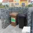 Mülltonnenabtrennung Gabionen